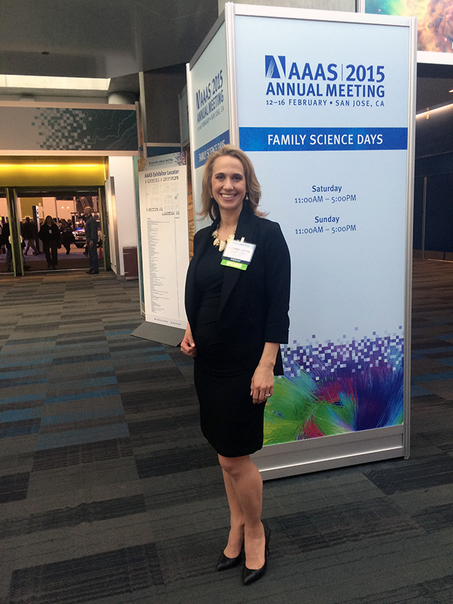 Suzanne Verma at the American Association for the Advancement of Science annual meeting