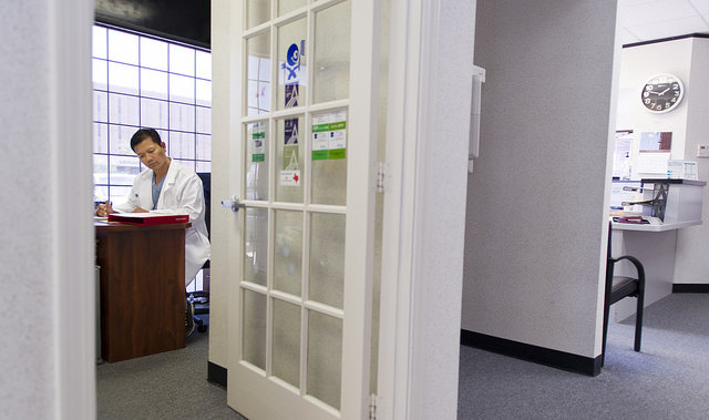 Dr. Don Le in his Houston dental office