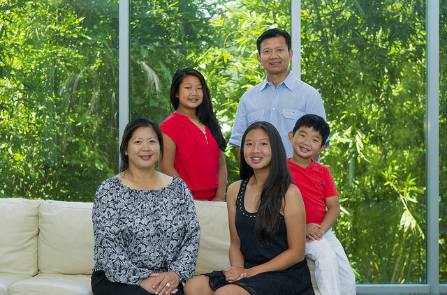 The Le family, left to right: Cindy, Andrea, Allison, Don and Austin