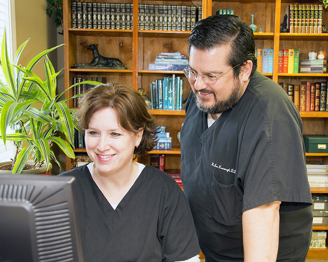 The Kavanaghs at the College Station, Texas dental practice