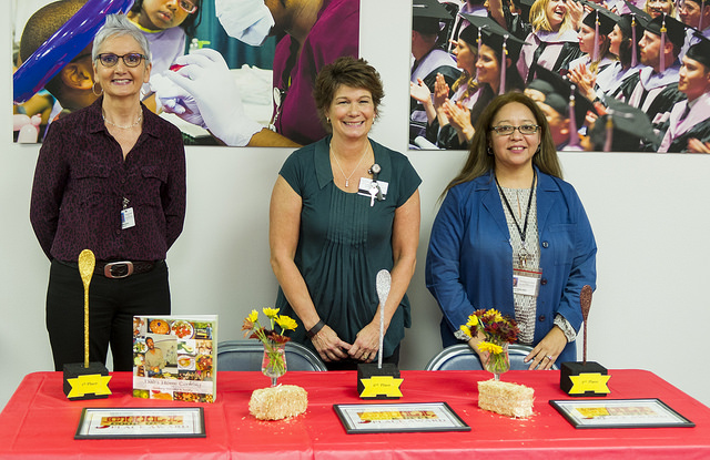 Chili Cook-Off winners, left to right: Pat Matulis, Angela Hickman and Claudia Rubalcado