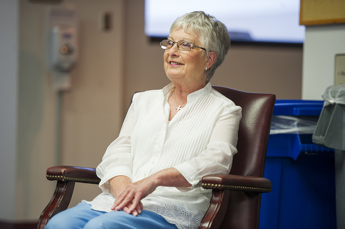 """""""BCD has been my family, and all the students have been my children,"""" Allen told co-workers and friends during her May 31 retirement reception."""