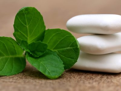 Mint leaves and gum