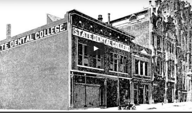 An image of the dental school in the early 1900s