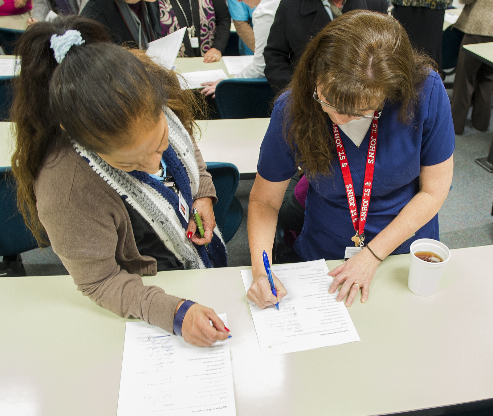 Workshop activities during Staff Development Day in January 2015.