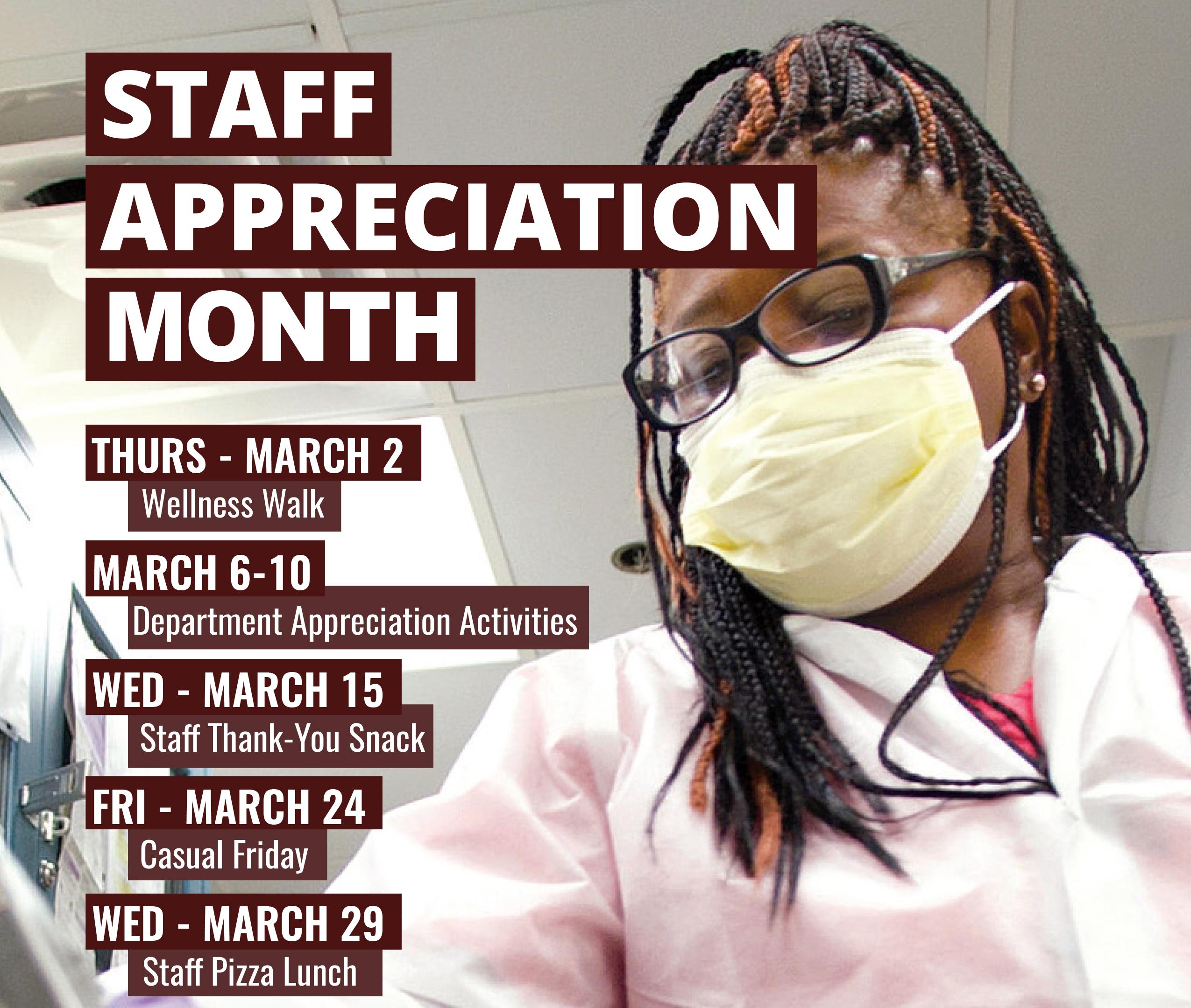 Staff Appreciation Month