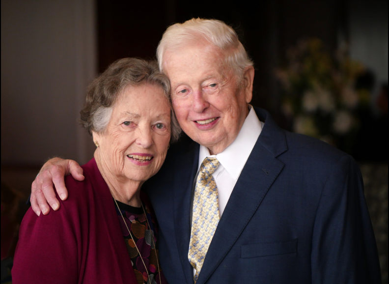 Dr. Terry Rees and his wife, Bo, during his Aug. 18 retirement reception