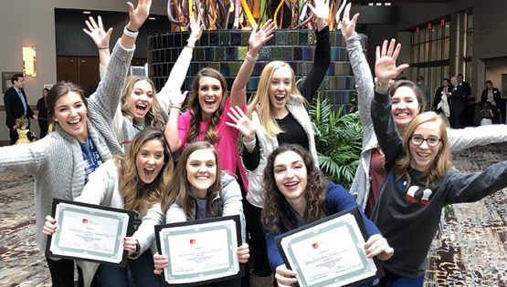 Caruth School of Dental Hygiene students at TDHA