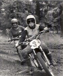 Myers Ashley racing her 125 Yamaha MX